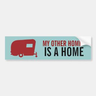 Campista - mi otro hogar - humor del remolque del pegatina de parachoque
