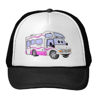 Campista rosado del dibujo animado gorras