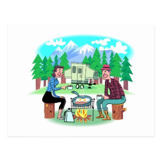Campistas contentos tarjetas postales