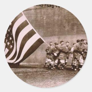 Campo 1914 de Ebbets de la ceremonia de aumento de Pegatina Redonda