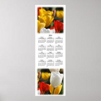 Campo 2014 del calendario de pared de los tulipane posters