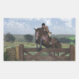 Campo a través - pegatina de salto del caballo