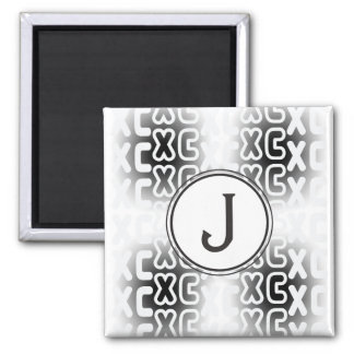 Campo a través personalizado del monograma XC Imán Cuadrado