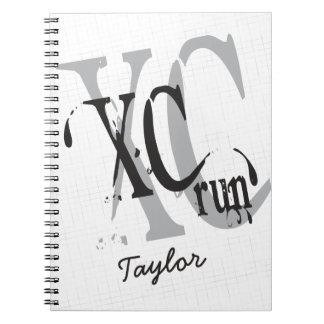 Campo a través personalizado que corre XC Spiral Notebook