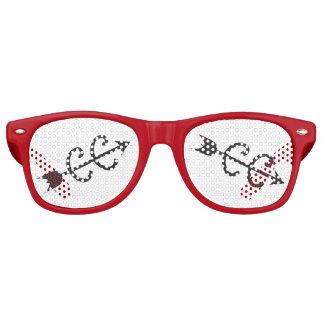 Campo a través que funciona con el regalo lentes de fiesta