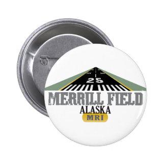 Campo Alaska - pista de Merrill del aeropuerto Pin Redondo De 2 Pulgadas