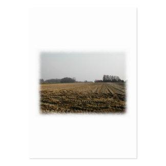 Campo arado en invierno Escénico Plantilla De Tarjeta De Negocio