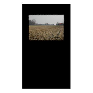 Campo arado en invierno Escénico Plantilla De Tarjeta De Visita