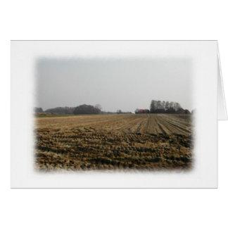 Campo arado en invierno. Escénico Tarjeta De Felicitación