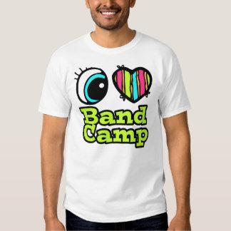 Campo brillante de la banda del amor del corazón I Playera