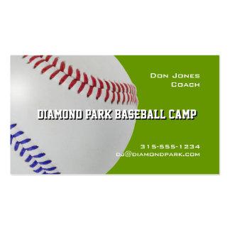 Campo Coach_Color Laces_All-American del béisbol Plantilla De Tarjeta De Visita