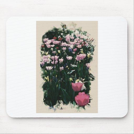 campo color de rosa tapetes de ratones