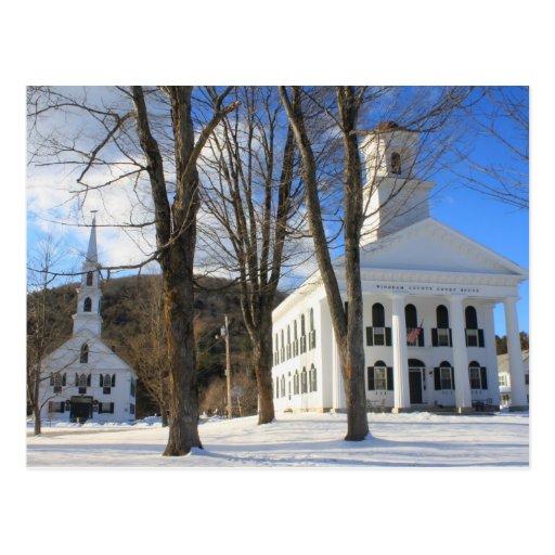 Campo común de la ciudad de Newfane Vermont Postales