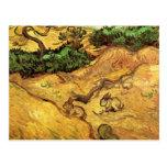 Campo con dos conejos, paisaje de Van Gogh del Postal