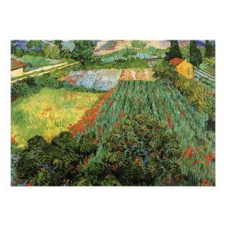 Campo con las amapolas de Vincent van Gogh Invitacion Personalizada