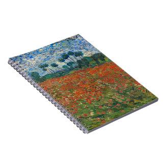 Campo con las amapolas cuadernos