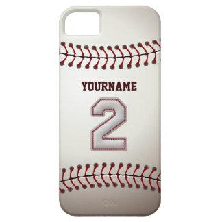 Campo corto del número 2 de la leyenda - béisbol iPhone 5 funda