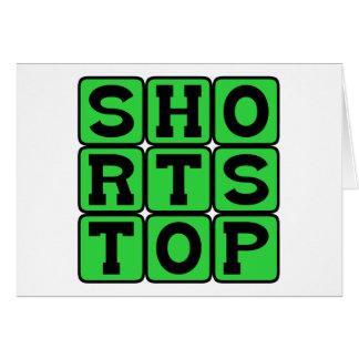 Campo corto, posición del béisbol tarjeta de felicitación