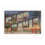 Campo Davis, Carolina del Norte - escenas grandes Postal