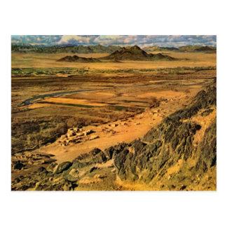 Campo de Afganistán del vintage cerca de Arghendad Postal