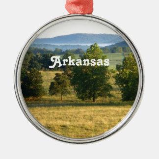 Campo de Arkansas Adorno Redondo Plateado
