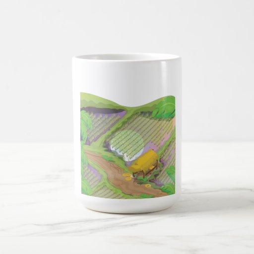 Campo de arroz taza clásica