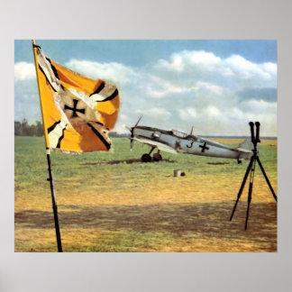 Campo de aviación de WWII Luftwaffe + ME-109 Impresiones
