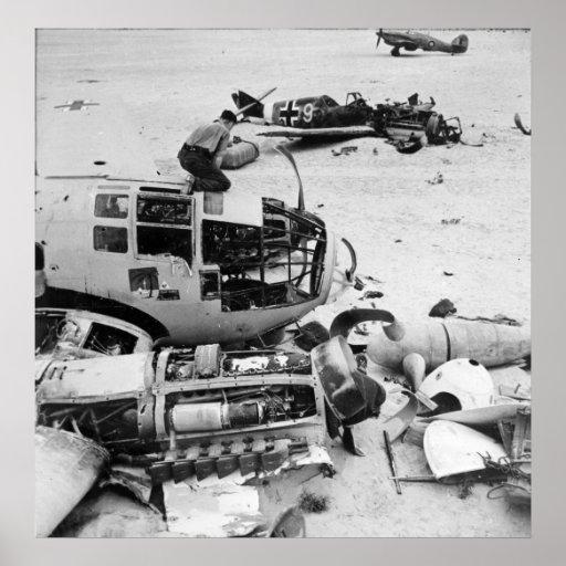 Campo de aviación de WWII Póster