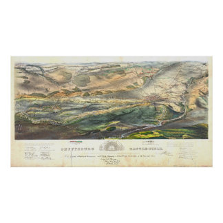 Campo de batalla 1863 de Gettysburg Póster