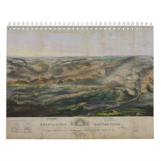 Campo de batalla de Gettysburg de Juan Bachelder 1 Calendarios De Pared