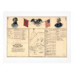 Campo de batalla de la guerra civil del mapa 1864 plantilla de membrete