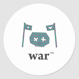 Campo de batalla de la guerra solo pegatina redonda