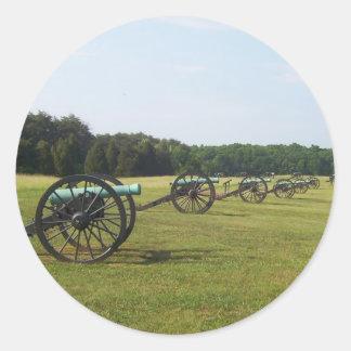 Campo de batalla de Manassas - guerra civil Etiquetas Redondas