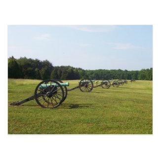 Campo de batalla de Manassas - guerra civil Postal