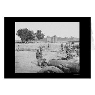 Campo de batalla de siete pinos en VA 1862 Tarjeta De Felicitación
