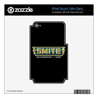 Campo de batalla del logotipo del GOLPE VIOLENTO d iPod Touch 4G Calcomanía