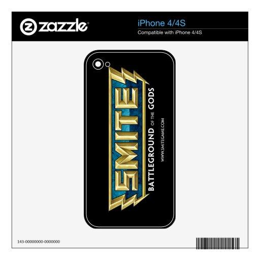 Campo de batalla del logotipo del GOLPE VIOLENTO d Skins Para eliPhone 4S