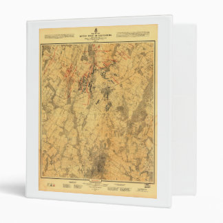 "Campo de batalla del mapa de Gettysburg de Juan Carpeta 1"""