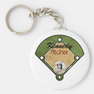 Campo de béisbol llaveros personalizados
