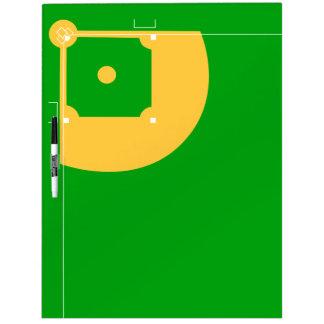 Campo de béisbol pizarra