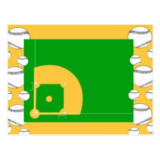 Campo de béisbol tarjeta postal