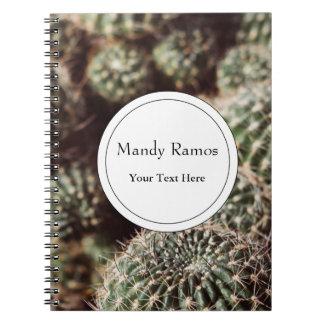 Campo de cactus, fotografía botánica roja caliente libreta
