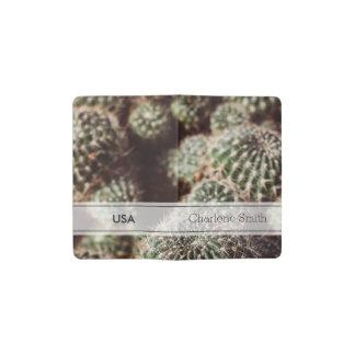 Campo de cactus, fotografía botánica roja caliente funda para libreta y libreta pequeña moleskine