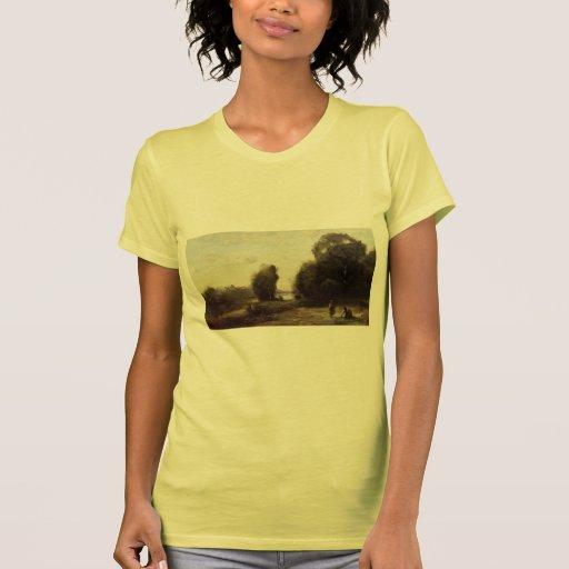 Campo de Camilo Corot- por un río Tshirt