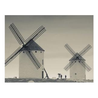 Campo de Criptana, antique La Mancha windmills 2 Postcard