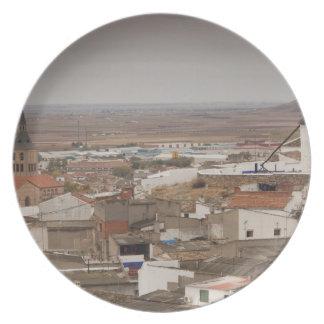Campo de Criptana, antique La Mancha windmills 6 Dinner Plate