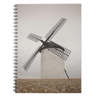 Campo de Criptana, molinoes de viento antiguos 3 d Libros De Apuntes