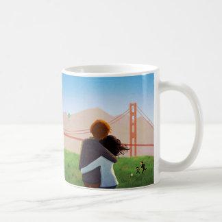 Campo de Crissy - puente Golden Gate Taza Básica Blanca