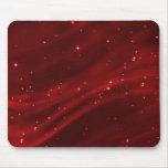 Campo de estrella #2 rojo horizontal alfombrillas de raton