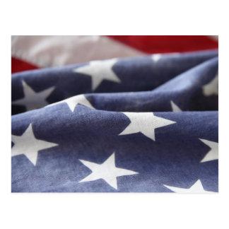 campo de estrella de la postal de la bandera de lo